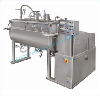 Ribbon Vacuum Mixer Dryer with Cylindrical Shell
