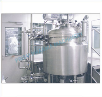 Automatic Liquid Syrup Vessel with top flange fitting & to mounting agitator
