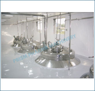 Automatic Liquid Syrup Plant with flange mounted on slab