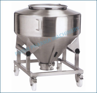 Round IBC Bin with trolley