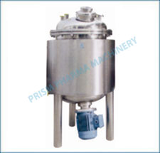 Jacketed Vessels with top disc with flange & bottom Homogenizer
