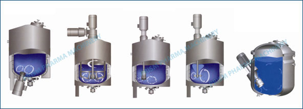 Type of mixer stirrer for tank , Vessels & Reactor